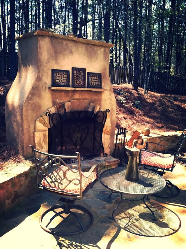 Providence Landscaping Fireplace